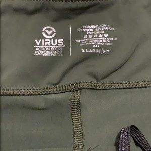 Virus Pants - Olive Green Virus Compression leggings